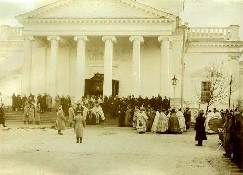 Собор Андрея Первозванного, похороны Ионна Кронштадского, 22 дек. 1908г. (н.с. 4.01.1909)