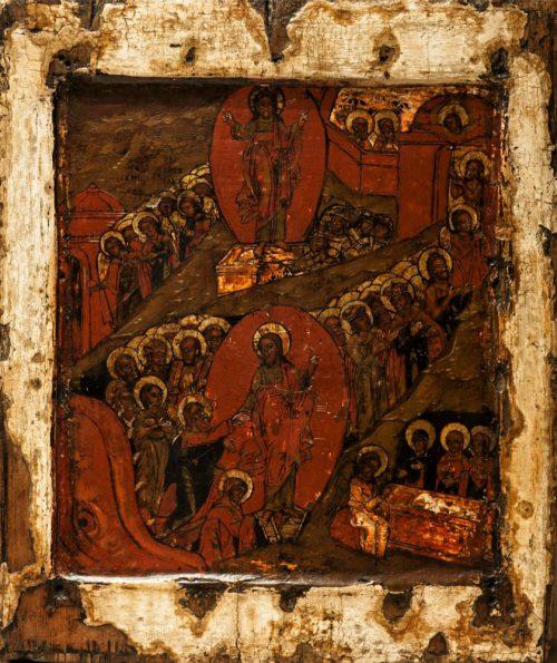 Воскресение Христово. Сошествие во Ад. Икона храма св. прав. Иоанна Кронштадтского