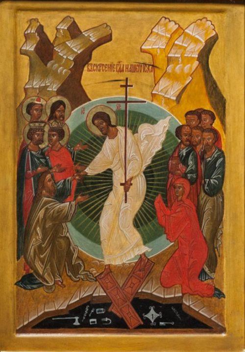 Воскресение Христово. Икона храма св. прав. Иоанна Кронштадтского в Гамбурге