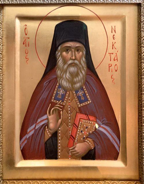 Икона святителя Нектария в нашем храме.