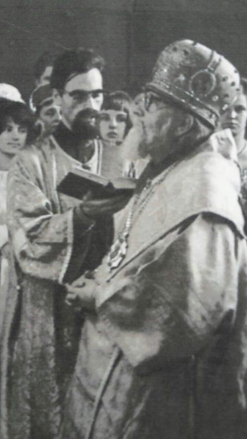 Отец Константин на службе, 60-е