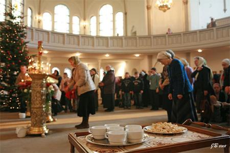 Богослужение в храме святого праведного Иоанна Кронштадтского