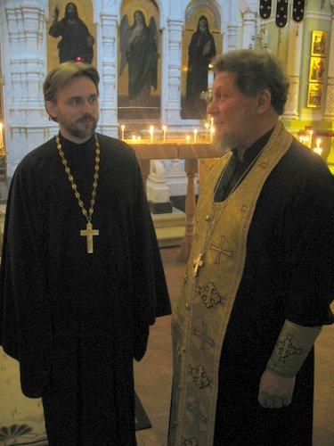 Протоиерей Георгий Давыдов и протоиерей Сергий Бабурин