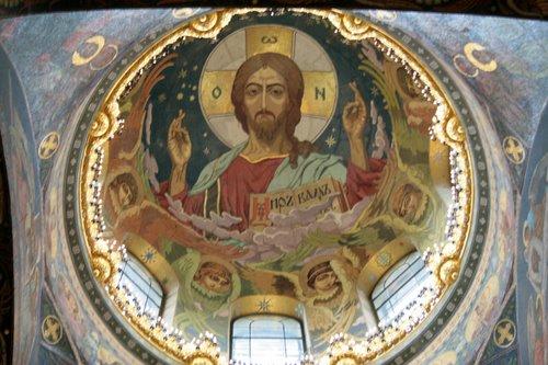 Мозаичная икона в куполе храма Спас на Крови
