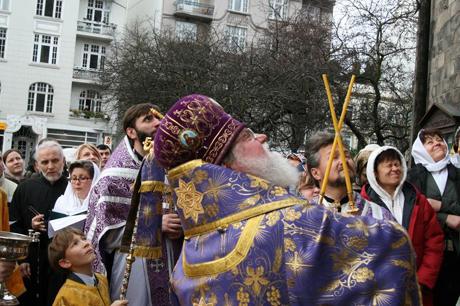 Освящение мозаики архиепископом Феофаном