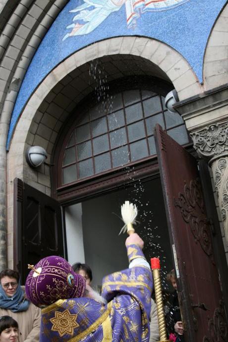 Чин освящения мозаики в храме в Гамбурге