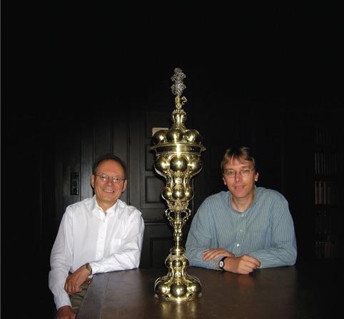 Профессор Конотоп и зам.директора Музея истории Гамбурга дoктор Вихман