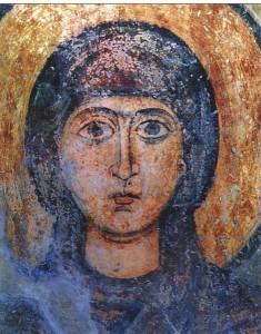 Мученица Наталия. Фреска XVIIв. Софийский Собор в Киеве