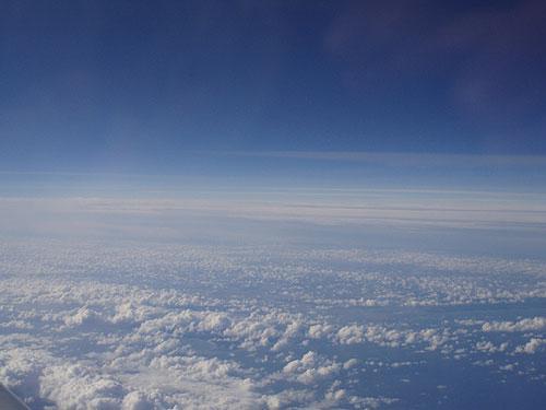Вид из самолета Гамбург-Санкт-Петербург