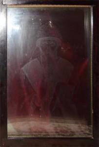 Отобразившийся лик св. Спиридона Тримифунтского. Фотография профессора Конотопа