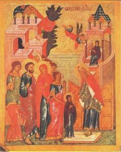 Икона праздника введения во храм Пресвятой Богородицы